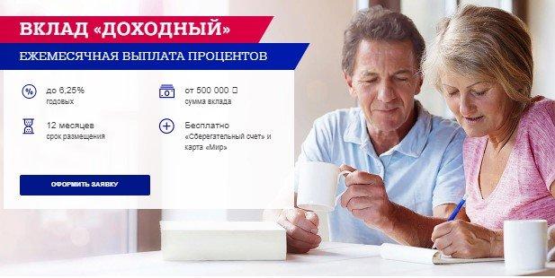 Вклад «Доходный» в Почта Банк - условия