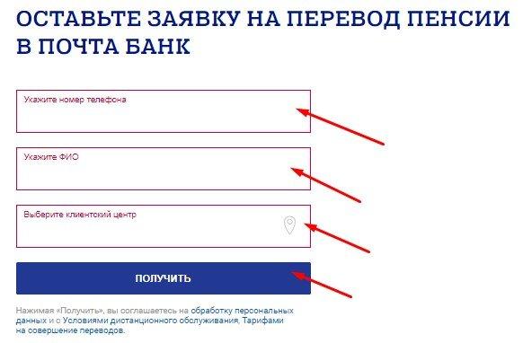 Как можно перевести пенсию в Почта Банк?