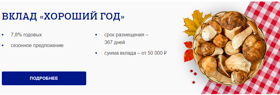 Вклады для физических лиц в Почта Банке - проценты
